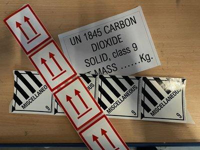 Labelset luchtvracht